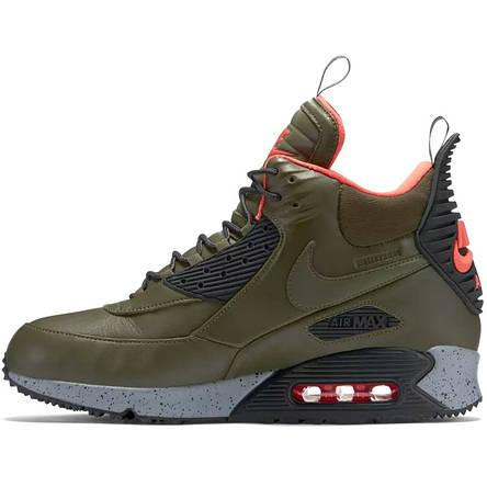 Кроссовки мужские Nike Air Max Sneakerboots 90's (зеленые) Top replic, фото 2
