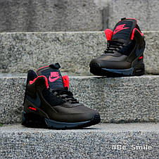 Кроссовки мужские Nike Air Max Sneakerboots 90's (зеленые) Top replic, фото 3