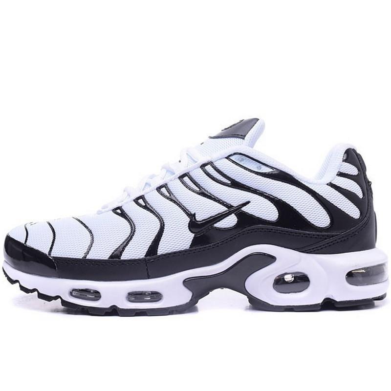 Кроссовки мужские Nike Air Max TN+ (черные-белые) Top replic