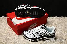 Кроссовки мужские Nike Air Max TN+ (черные-белые) Top replic, фото 3