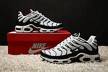 Кроссовки мужские Nike Air Max TN+ (черные-белые) Top replic, фото 2