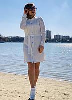 Платье рубашка белого цвета