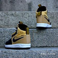 Кроссовки мужские Nike Lunar Force 1 Duckboot (коричневые) Top replic, фото 2