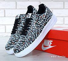 """Кроссовки мужские Nike Air Force 1 Low  """"Just Do It"""" (черные) Top replic, фото 2"""