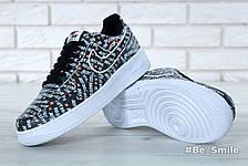 """Кроссовки мужские Nike Air Force 1 Low  """"Just Do It"""" (черные) Top replic, фото 3"""
