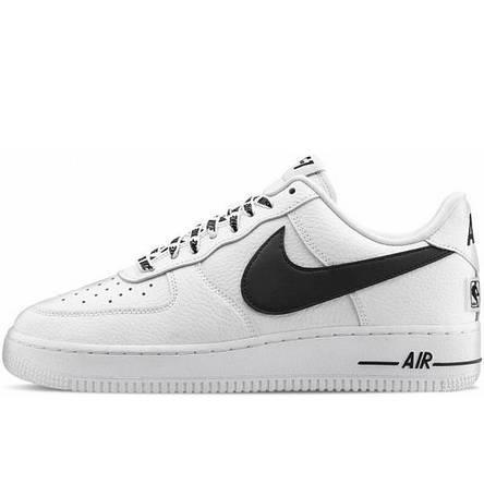 Кроссовки мужские Nike Air Force 1 Low NBA (белые) Top replic, фото 2