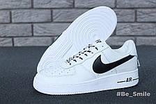Кроссовки мужские Nike Air Force 1 Low NBA (белые) Top replic, фото 3