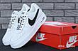 Кроссовки мужские Nike Air Force 1 Low NBA (белые) Top replic, фото 5