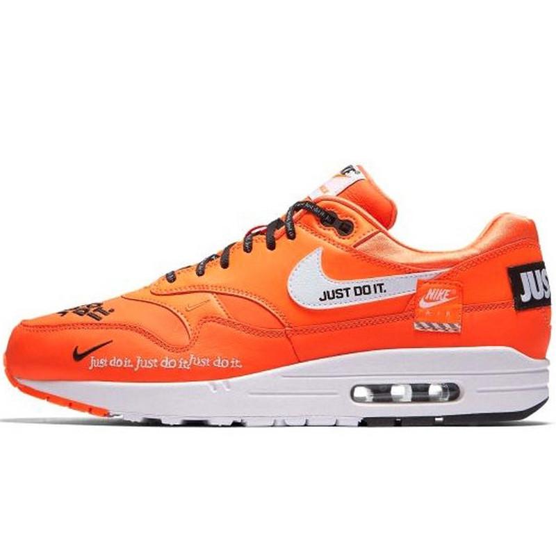 "Кроссовки мужские Nike Air Max 1 SE LX ""Just Do It"" (оранжевые) Top replic"