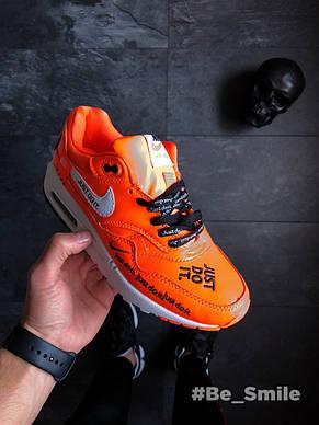 "Кроссовки мужские Nike Air Max 1 SE LX ""Just Do It"" (оранжевые) Top replic, фото 2"