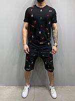 Чоловічий комплект футболка + шорти 2Y Premium 5197 black, фото 1