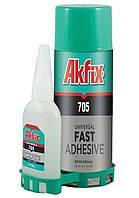 Супер клей Akfix 705 с активатором 100мл+400мл