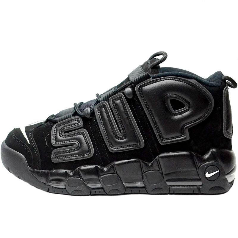 Кроссовки мужские Nike Air More Uptempo x Supreme (черный) Top replic