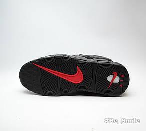 Кроссовки мужские Nike Air More Uptempo x Supreme (черный) Top replic, фото 3