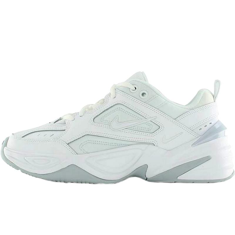 Кроссовки женские Nike M2K Tekno (белые-серые) Top replic