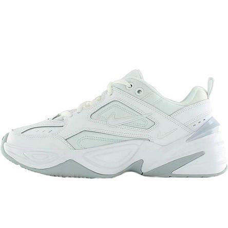 Кроссовки женские Nike M2K Tekno (белые-серые) Top replic, фото 2