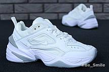 Кроссовки женские Nike M2K Tekno (белые-серые) Top replic, фото 3