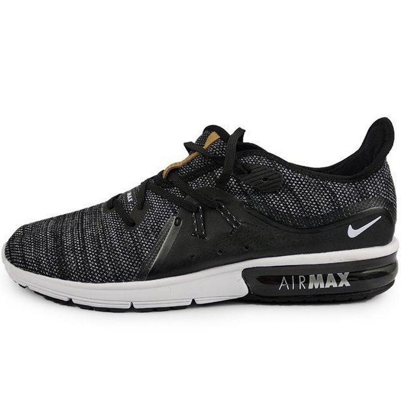 Кроссовки мужские Nike Air Max Sequent (черные-серые) Top repliс