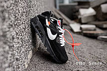 Кроссовки мужские Nike Air Max 90 x Off-White (черные) Top repliс, фото 2
