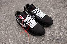 Кроссовки мужские Nike Air Max 90 x Off-White (черные) Top repliс, фото 3