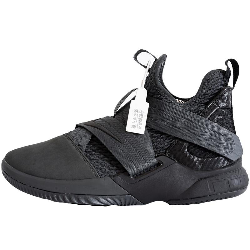 Кроссовки мужские Nike LeBron James 12 (черные) Top replic