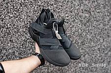 Кроссовки мужские Nike LeBron James 12 (черные) Top replic, фото 2