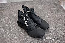 Кроссовки мужские Nike LeBron James 12 (черные) Top replic, фото 3