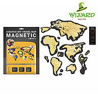 Скретч Карта магнитная Travel Map MAGNETIC World