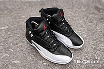 Кроссовки мужские Nike Air JORDAN 12 (черные-белые) Top replic, фото 3