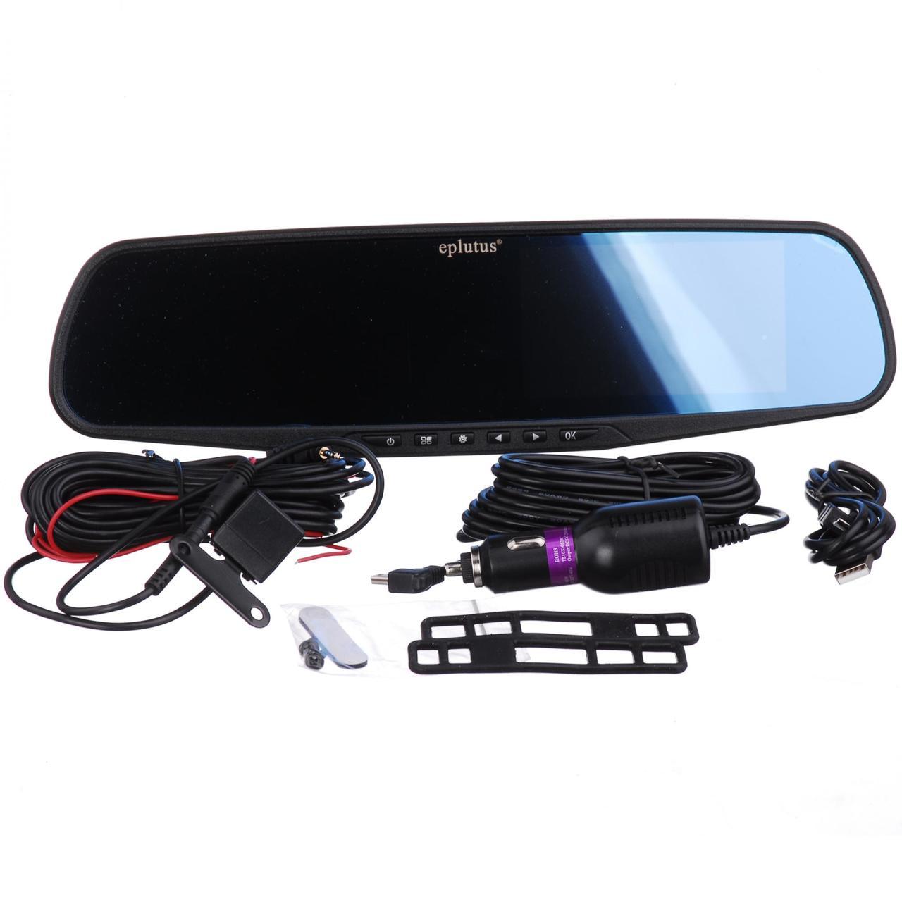Видеорегистратор зеркало с камерой заднего вида и сенсорным экраном EPLUTUS D-10 (відеореєстратор)