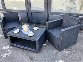 Кресла и журнальный столик из ротанга