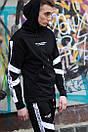 Чоловічий спортивний костюм модний Agresive project Люкс чорний з білим, фото 3