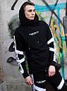 Чоловічий спортивний костюм модний Agresive project Люкс чорний з білим, фото 5