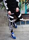 Чоловічий спортивний костюм модний Agresive project Люкс чорний з білим, фото 8