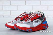 Кроссовки мужские Undercover - Nike React Element 87 (красные-серые)   Top replic, фото 2