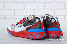 Кроссовки мужские Undercover - Nike React Element 87 (красные-серые)   Top replic, фото 3