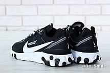 Кроссовки мужские Undercover - Nike React Element 87 (черные-белые) Top replic, фото 3