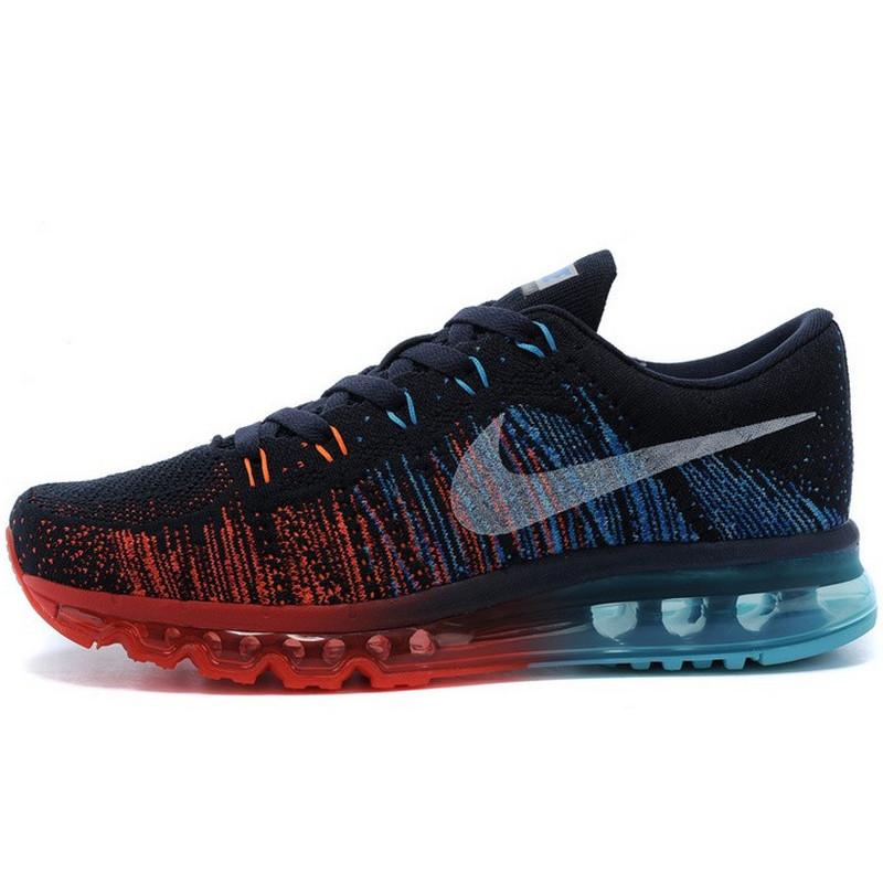 Кроссовки женские Nike Air Max 2014 (черные-красные-синие) Top replic