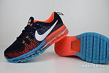 Кроссовки женские Nike Air Max 2014 (черные-красные-синие) Top replic, фото 2