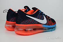 Кроссовки женские Nike Air Max 2014 (черные-красные-синие) Top replic, фото 3