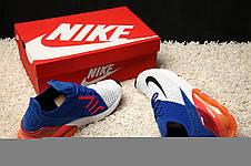 Кроссовки мужские Nike Air Max 270 Flyknit Racer (белые-синие-красные) Top replic, фото 2