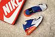 Кроссовки мужские Nike Air Max 270 Flyknit Racer (белые-синие-красные) Top replic, фото 4