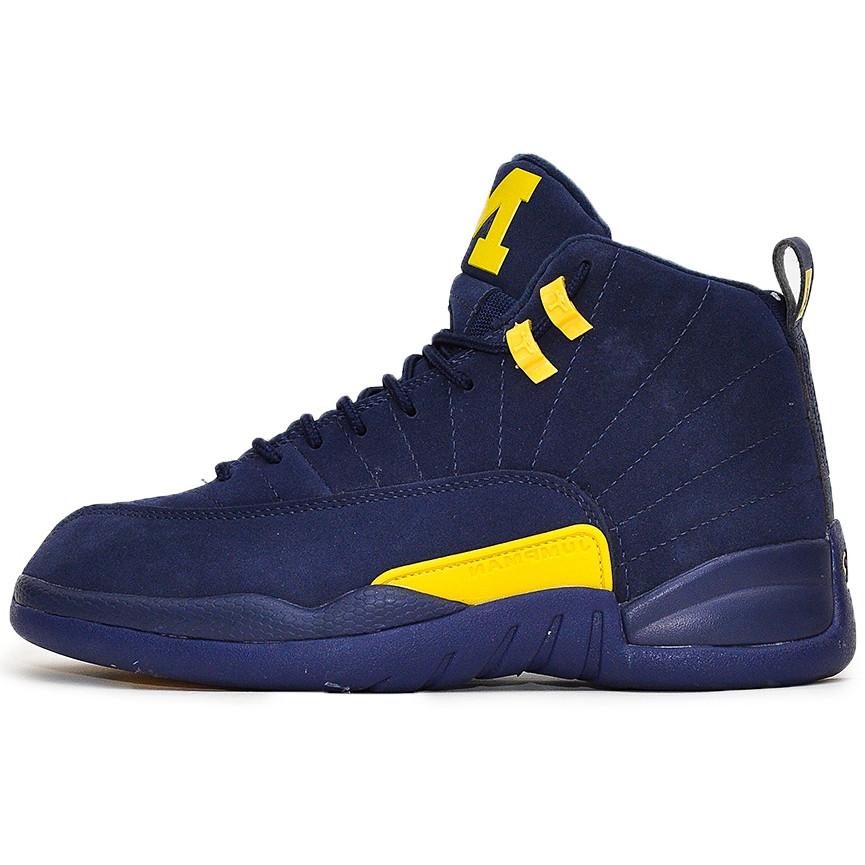 Кроссовки мужские Nike Air JORDAN 12 (синие) Top replic