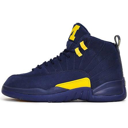Кроссовки мужские Nike Air JORDAN 12 (синие) Top replic, фото 2