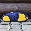 Кроссовки мужские Nike Air JORDAN 12 (синие) Top replic, фото 4