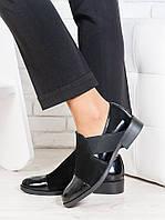 Туфли женские замшевые Classik  + лак