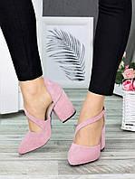 Туфли женские замшевые Marsel цвет пудра