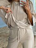 Жіночий костюм прогулянковий трикотажний на хб зупинку (в кольорах), фото 4