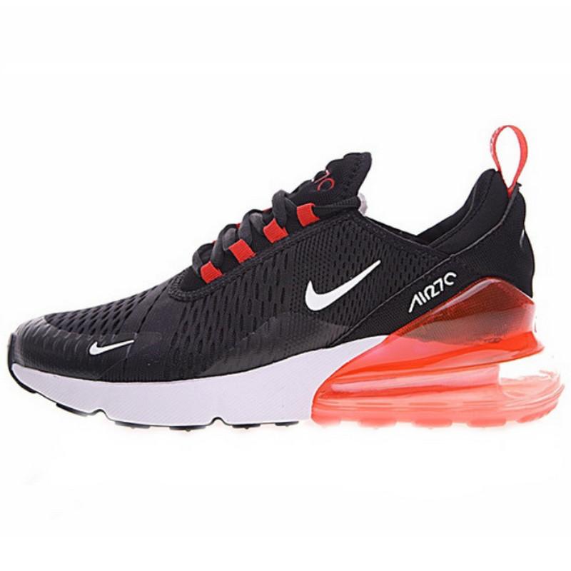 Кроссовки мужские Nike Air Max 270 (черные-красные)  Top replic