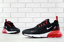Кроссовки мужские Nike Air Max 270 (черные-красные)  Top replic, фото 2
